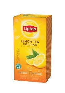 Lipton Melnā aromatizētā tēja ar citronu miziņām