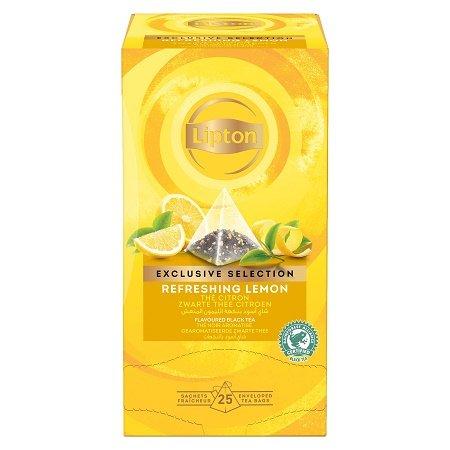 Lipton Melnā aromatizētā tēja ar citronu miziņām -