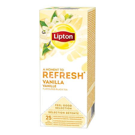 Lipton Melnā aromatizētā tēja ar vaniļu