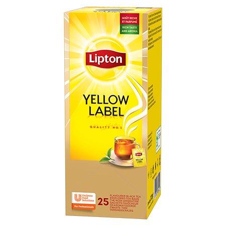 Lipton Yellow Label Melnā tēja 25 -