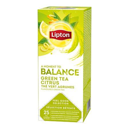 Lipton Zaļā aromatizētā tēja ar citrusaugļu miziņām