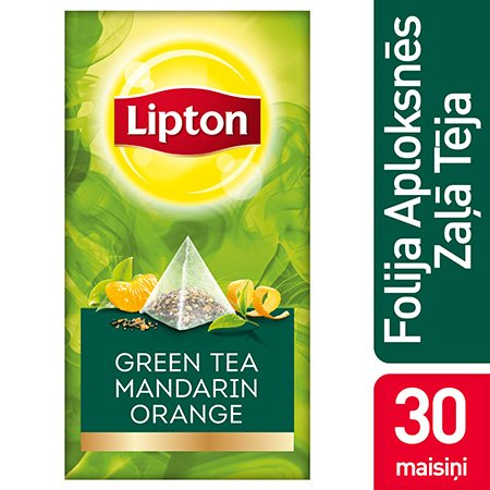 Lipton Zaļā aromatizētā tēja ar mandarīna un apelsīna miziņām