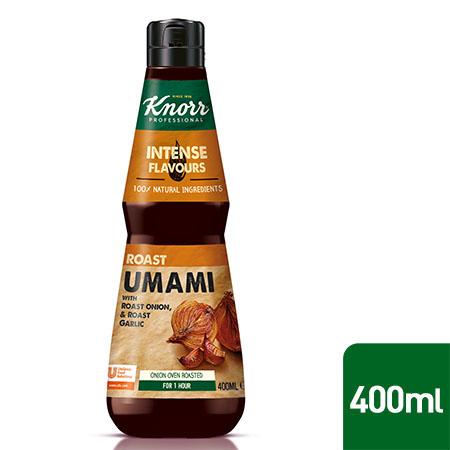 Knorr Professional Umami esence 0,4 l - Pagatavota no tādām dabīgām izejvielām kā krāsnī cepti sīpoli un ķiploki.