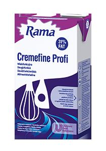 Rama Cremefine Profi 31% Paniņu un augu tauku maisījumu - Rama Cremefine Profi 31% uzticams produkts zupu, mērču, pamatēdienu un desertu gatavošanai