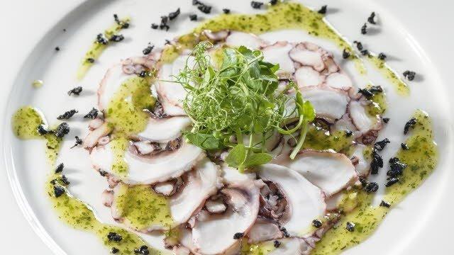 Astoņkāju karpačo – Recepte