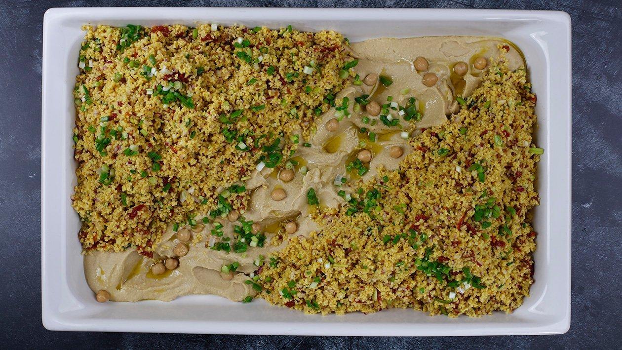 Bulgura putraimu un humusa salāti – Recepte