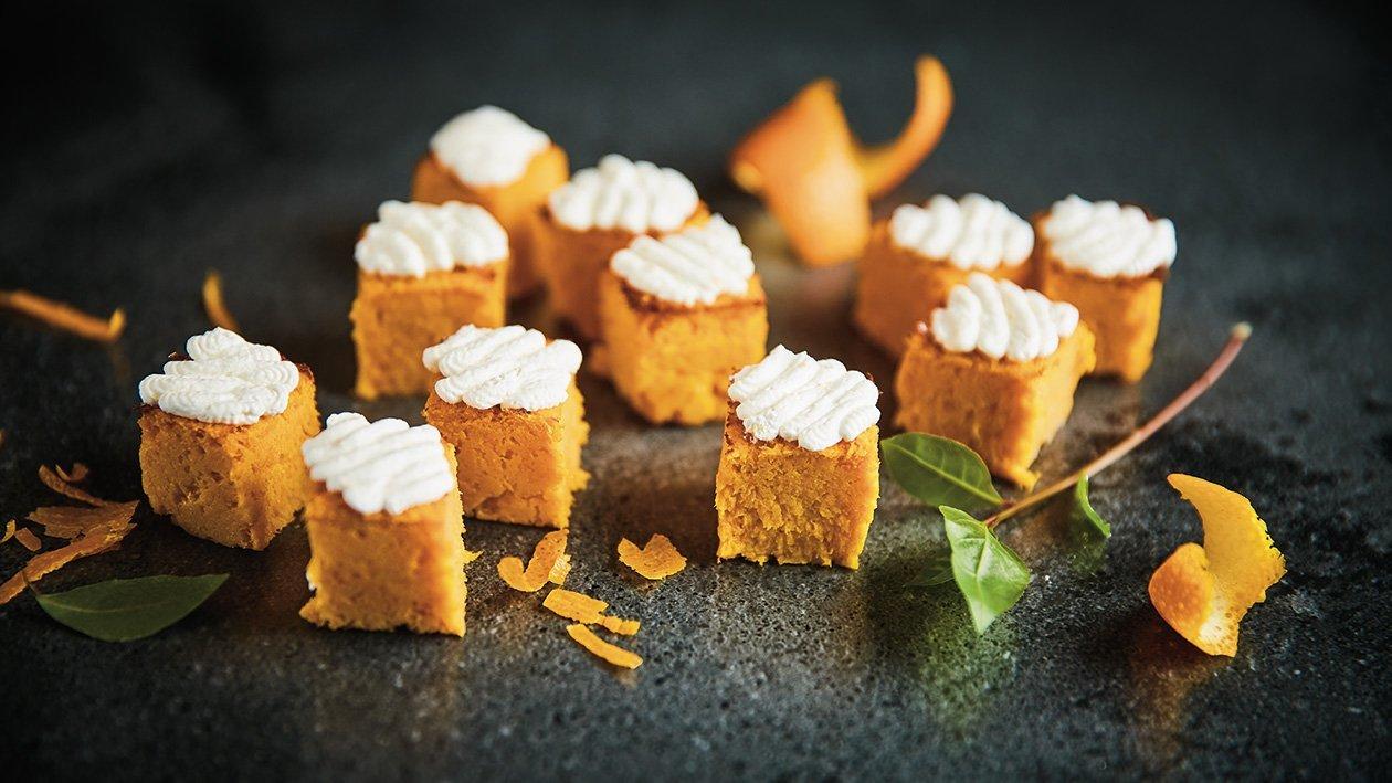 Burkānu kūciņas ar apelsīnu krēmu – Recepte