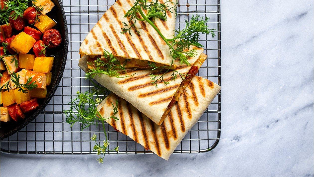 Čorizo un vistas kesadiljas – Recepte