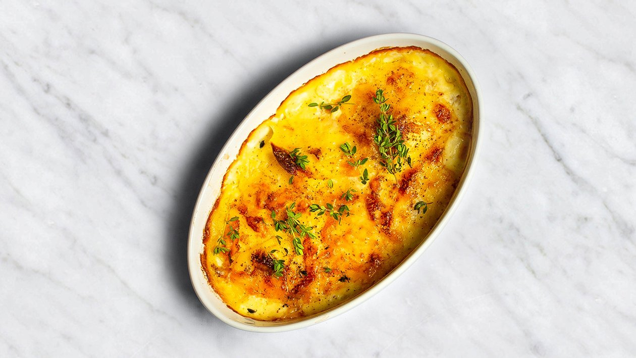 Kartupeļu sacepums ar cieto sieru – Recepte