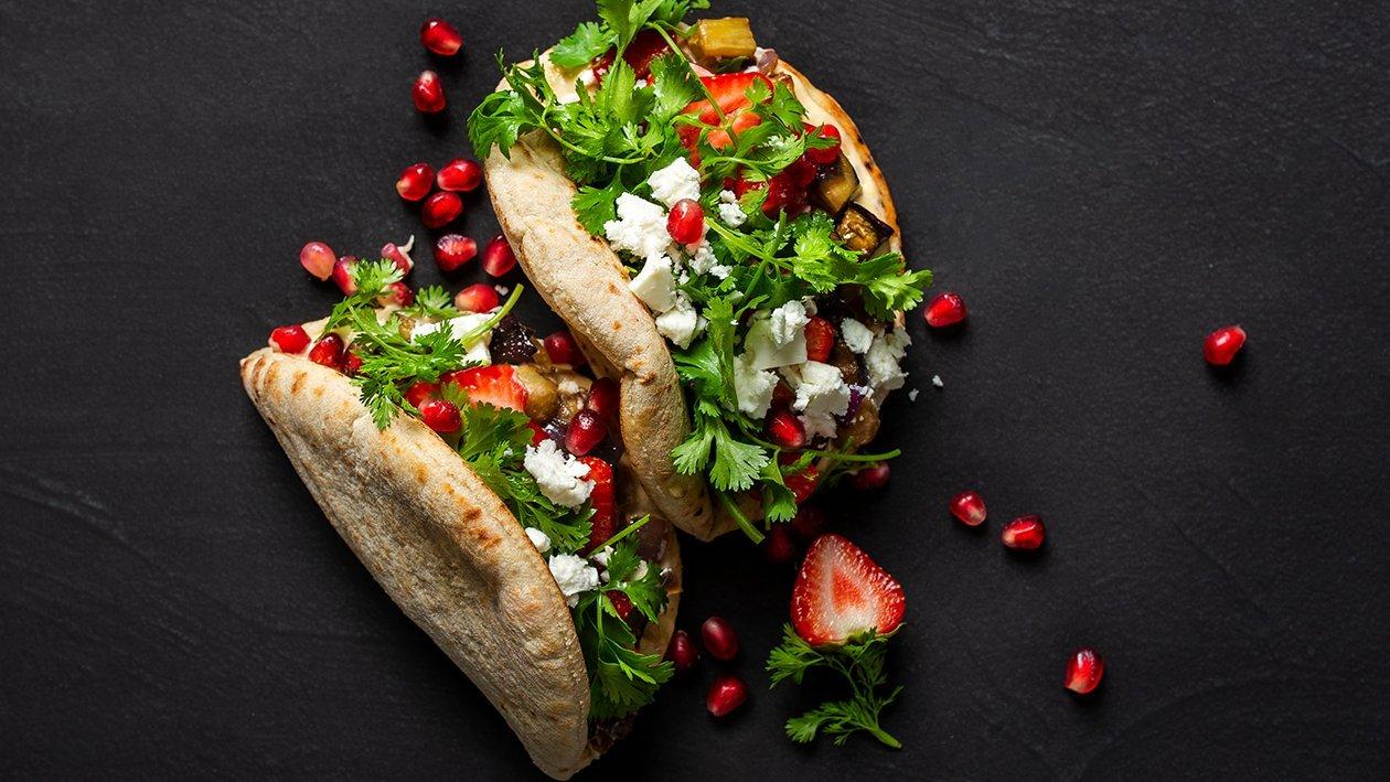Pita ar ceptiem baklažāniem un fetas sieru – Recepte