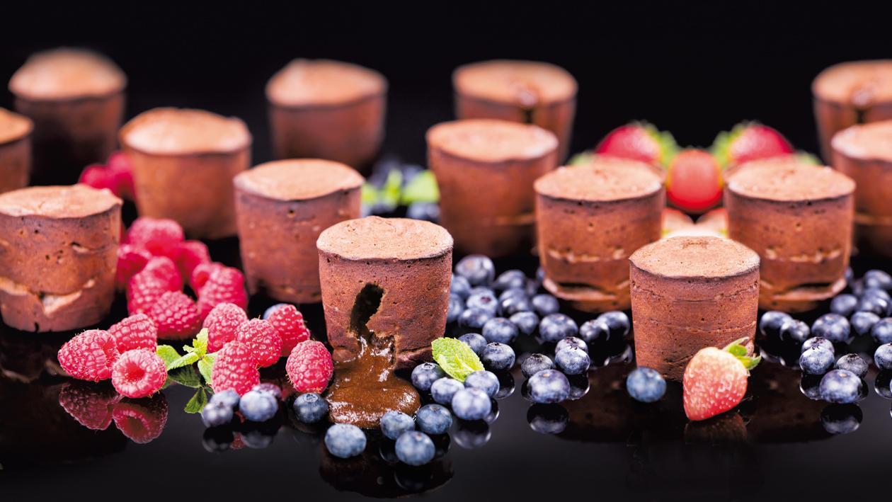 Šokolādes fondants – Recepte
