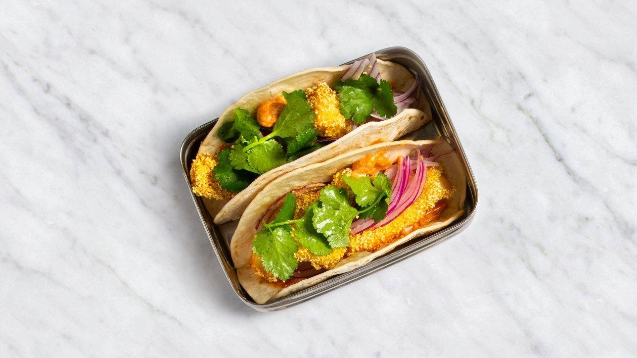 Tacos ar mencas gabaliņiem un majonēzes smēriņu – Recepte