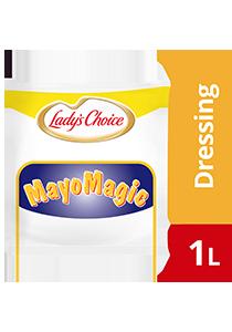 Lady's Choice Mayo Magic Mayonis 1L - Lady's Choice Mayo Magic merupakan mayonis ekonomi yang diformulasi istimewa untuk burger yang pasti digemari ramai.