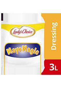 Lady's Choice Mayo Magic Mayonis 3L - Lady's Choice Mayo Magic merupakan mayonis ekonomi yang diformulasi istimewa untuk burger yang pasti digemari ramai