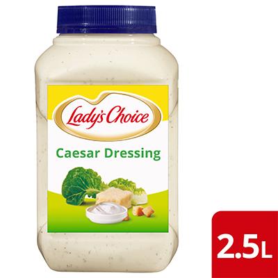 Lady's Choice Sos Salad Caesar 2.5L - Dibuat daripada bahan-bahan berkualiti yang sebenar, Lady's Choice Sos Salad Caesar  membantu anda untuk menyampaikan hidangan salad yang konsisten.