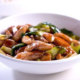 Ayam Goreng bersama Kicap Madu dan Sayur Asia