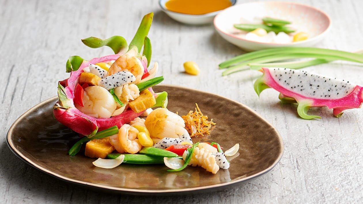 Sayur Goreng dengan Makanan Laut