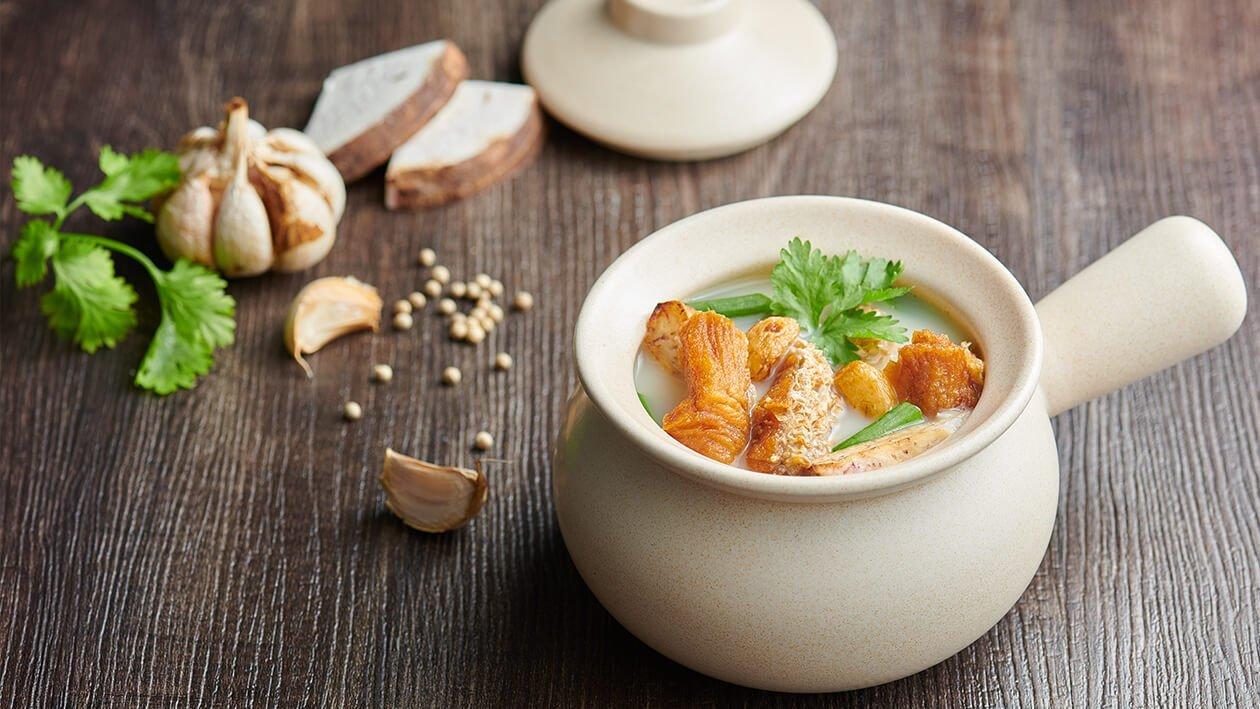 Sup Ikan Belanga dengan Ubi Keladi