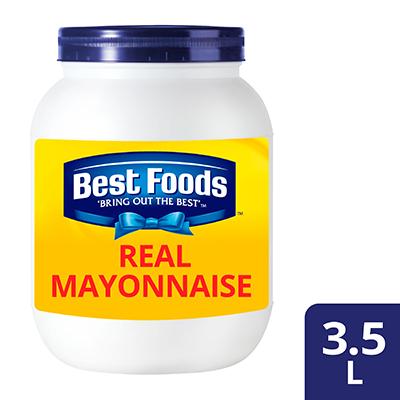 Best Foods မေရာနိစ္ ၃.၅ လီတာ - Best foods real မေရာနိစ္ က ဟင္းလ်ာတိုင္း၏ ပါဝင္ပစၥည္းမ်ားႏွင့္ အေကာင္းဆုံးေပါင္းစပ္ႏိုင္ေသာေၾကာင့္ ထူးျခားေကာင္းမြန္ေသာ အရသာကိုေပးစြမ္းႏိုင္ပါသည္။