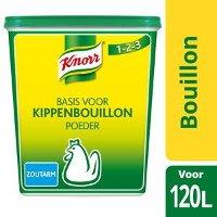Knorr 1-2-3 Kippenbouillon Poeder zoutarm