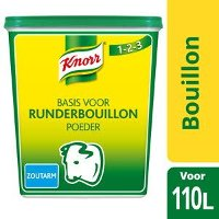 Knorr 1-2-3 Rundsbouillon Poeder zoutarm