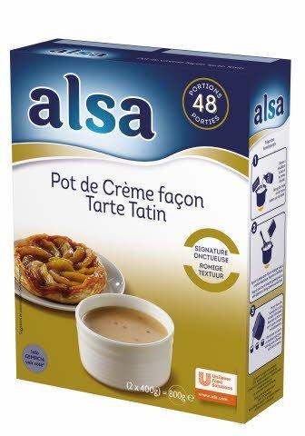 Alsa Pot de crème façon Tarte Tatin