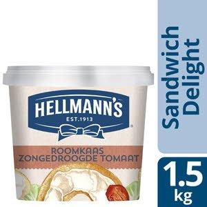 Hellmann's Sandwich Delight Roomkaas Zongedroogde Tomaat