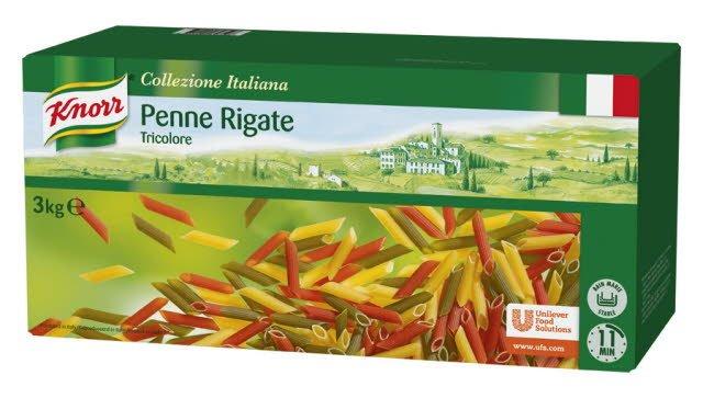 Knorr Collezione Italiana Deegwaren Penne Tricolore
