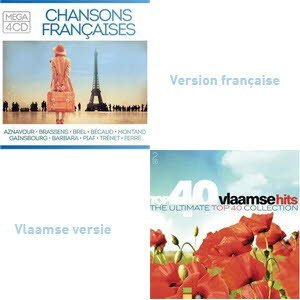 Top 40 Vlaamse Hits cd box