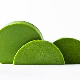 Parfait van groene kruiden