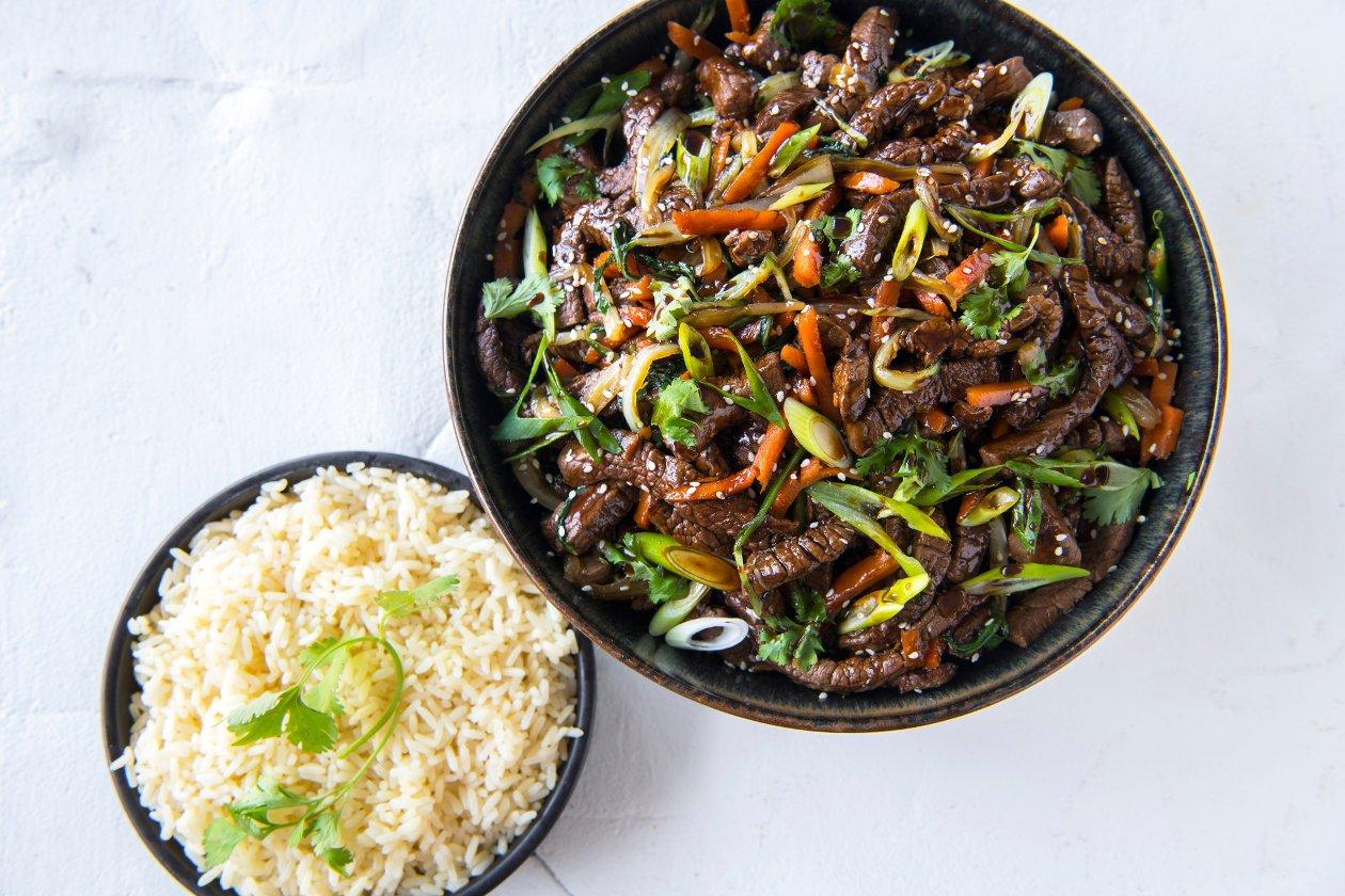 Chef Traiteur - Japanse rundsreepjes teriyaki met krokante groenten en rijst