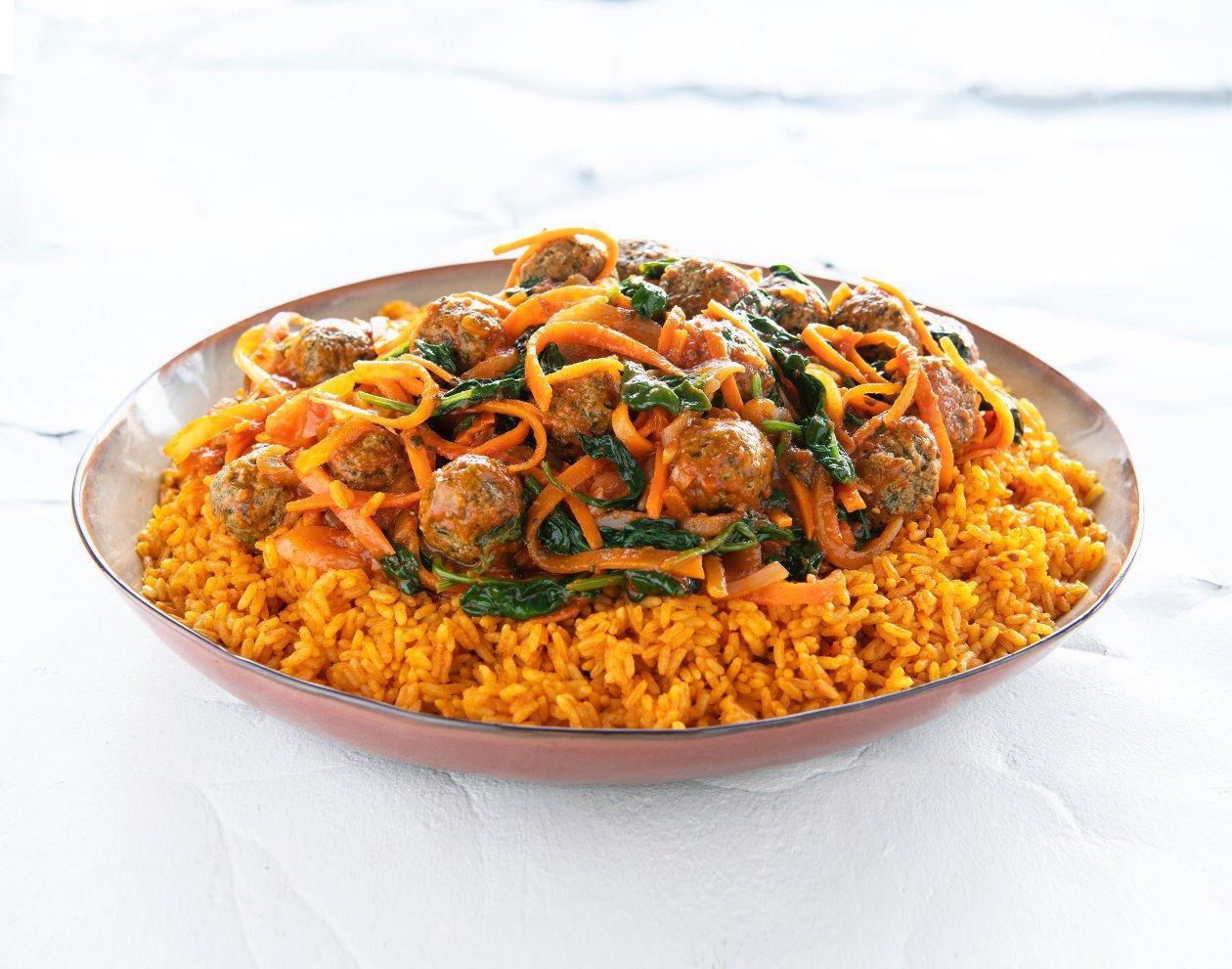 Chef Traiteur - Perzische gehaktballen met tomatenrijst – Recept