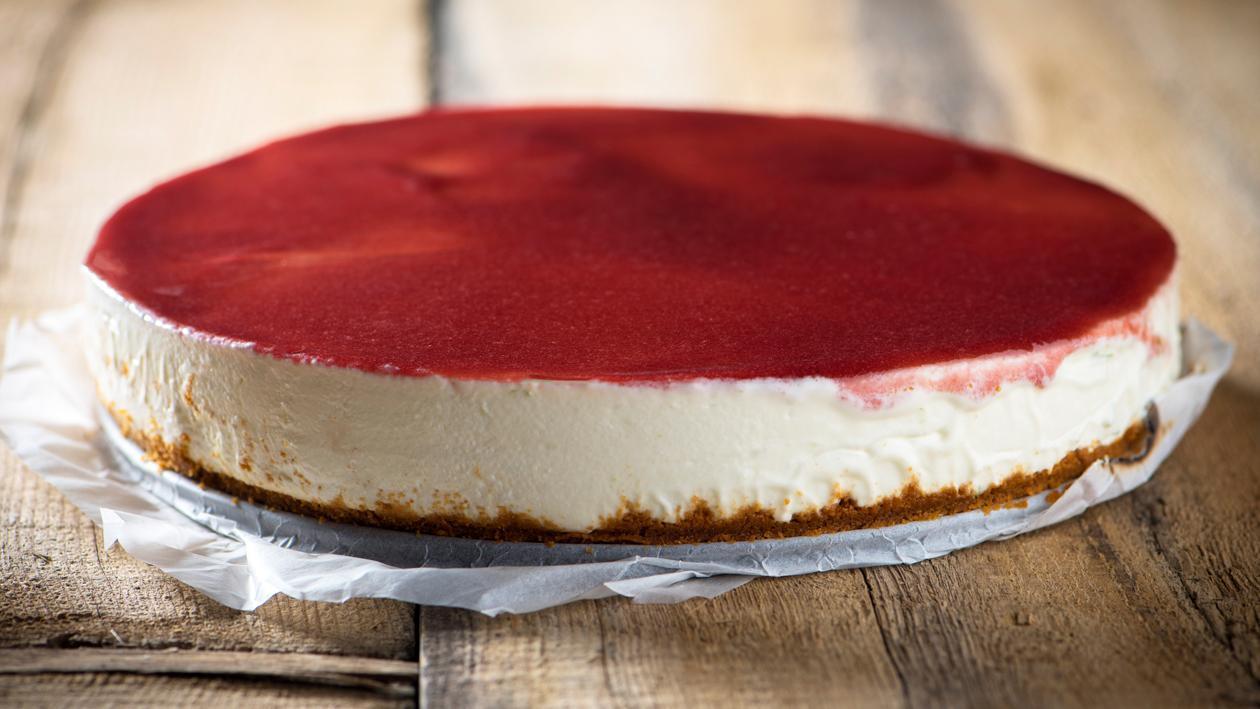 Citrus Cheesecake met gelée van aardbeien