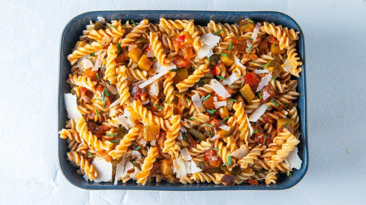 Fusilli met zuiderse groenten