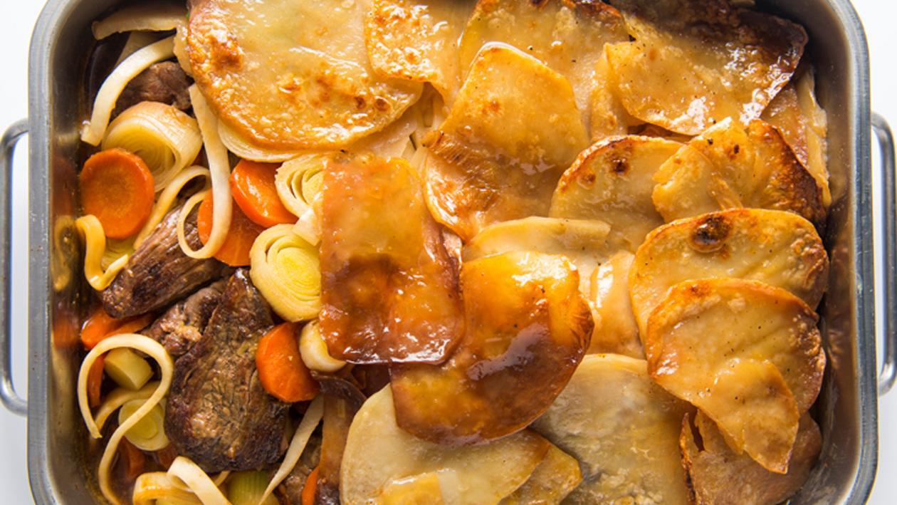 Jachtschotel van lamsvlees en cider