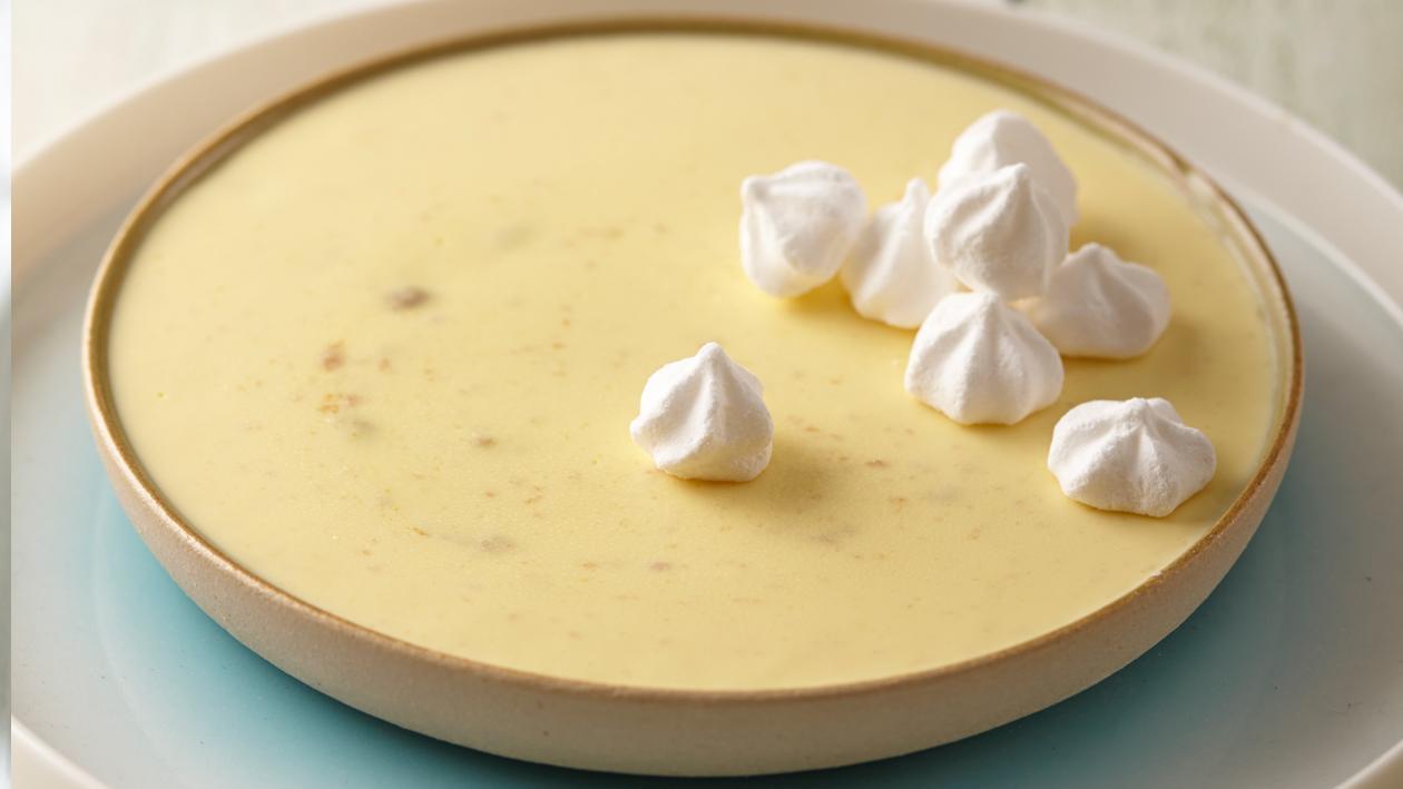 """Pot de Crème Façon """"Tarte Citron"""" met mini meringues"""