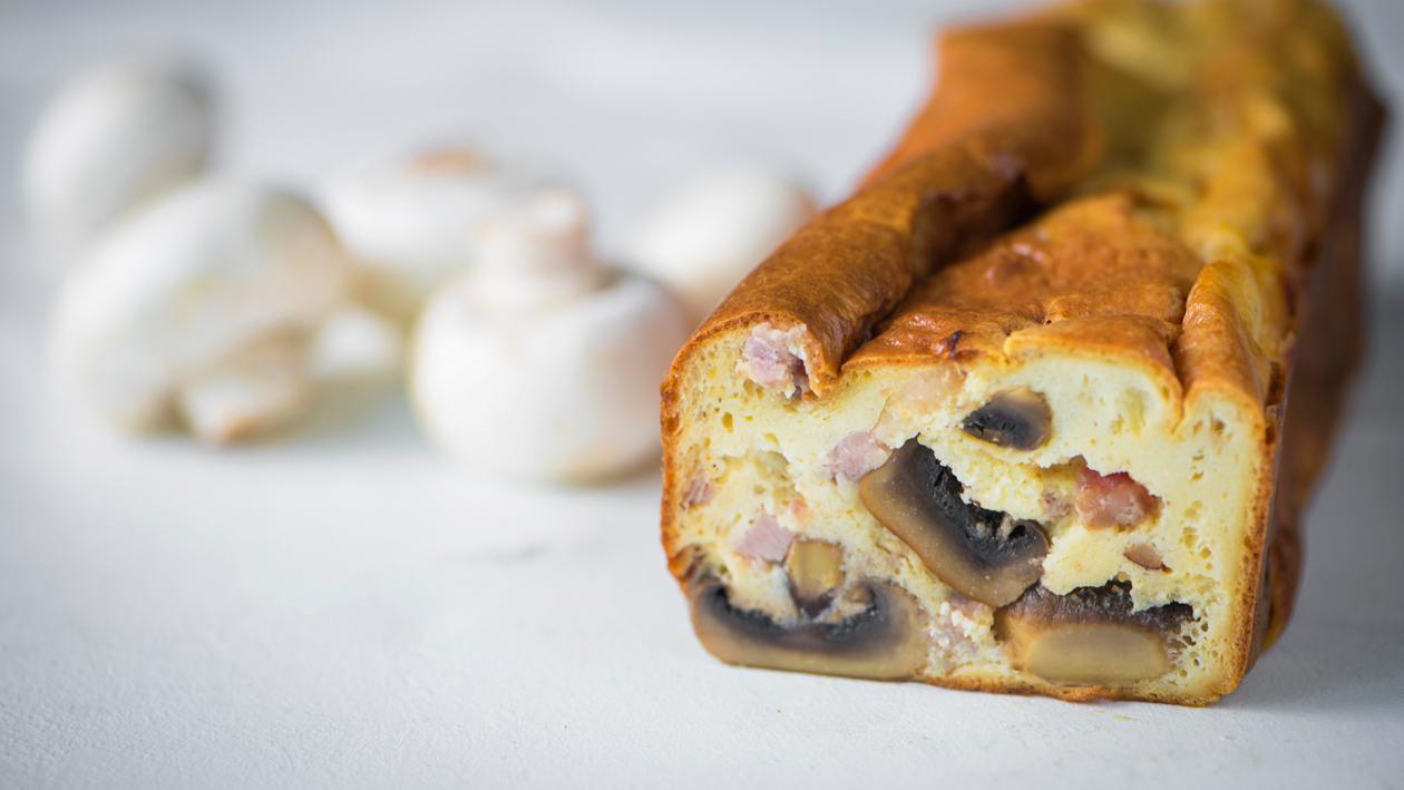 Terrine van champignon, roquefortkaas en bacon