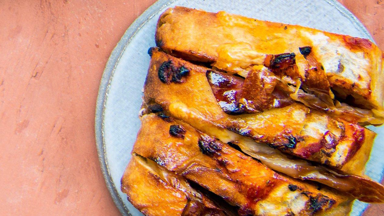 Tomatenbreekbrood met gerookte ham