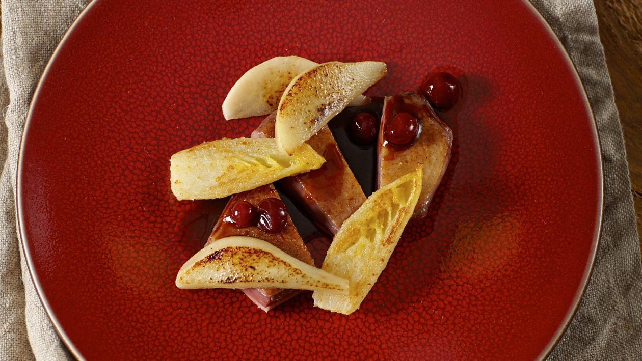 Wilde eend met witlof, peer en cranberry's  – Recept