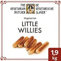 De Vegetarische Slager Little Willies Vegetarische Worstjes 1,9kg