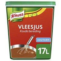 Knorr 1-2-3 Koude Basis Vleesjus Zoutarm Poeder opbrengst 17L