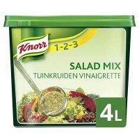 Knorr 1-2-3 Salademix Tuinkruiden Vinaigrette Poeder Opbrengst 4L