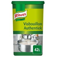 Knorr Visbouillon Authentiek Poeder opbrengst 42L