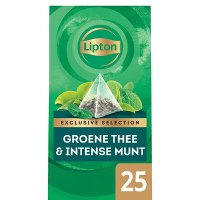 Lipton Exclusive Selection Groene Thee Intense Munt 25 zakjes