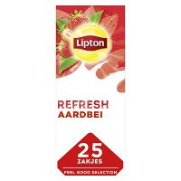 Lipton Feel Good Selection Zwarte Thee Aardbei 25 zakjes
