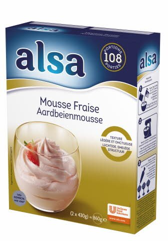 Alsa Aardbeienmousse Poeder 108 porties -