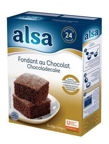 Alsa Fondant au Chocolat Chocoladecake