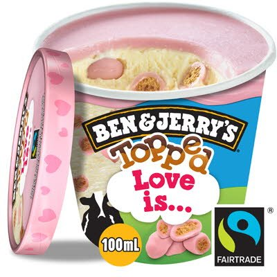 Ben & Jerry's Topped Mini cup Love Is… 12 x 100ml -