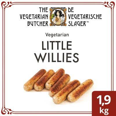 De Vegetarische Slager Little Willies Vegetarische Worstjes 1,9kg -