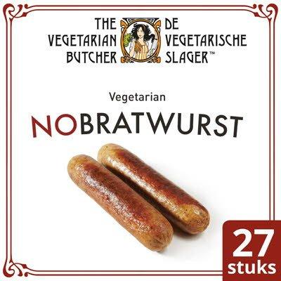 De Vegetarische Slager NoBratwurst Vegetarische Braadworst 27x90g -